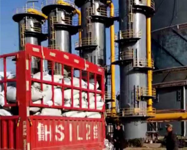 天安燃气脱硫塔活性炭更换